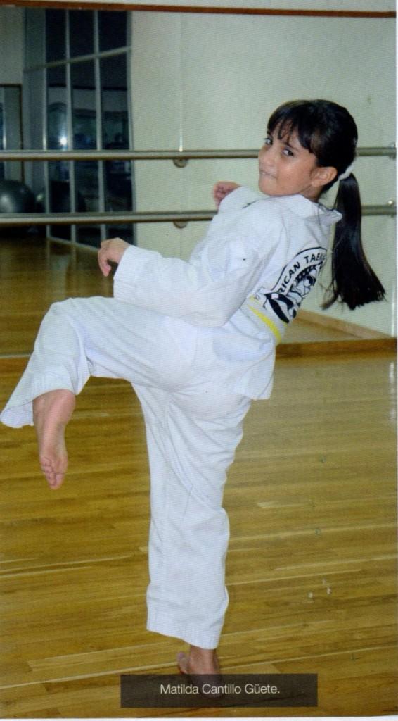 Matilda Cantillo Destacada Taekwondo