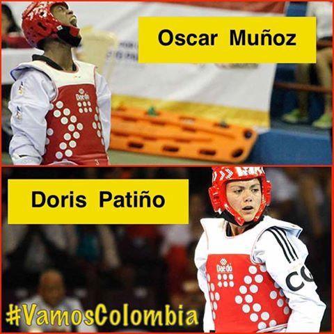 Los dos representantes del taekwondo colombiano en las Olimpiadas de Río 2016